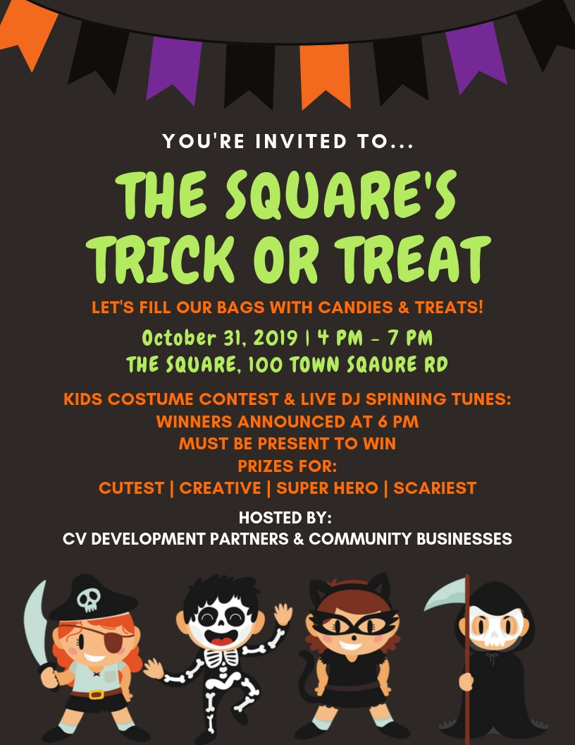 The Square's Trick or Treat Flyer
